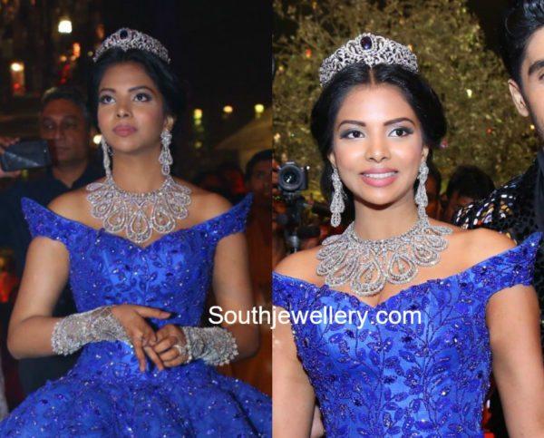 srinivas boinapally daughter hasini pre wedding diamond jewellery