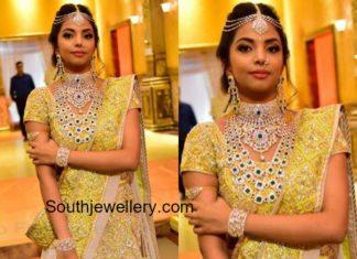 bride hasini diamond jewellery