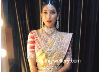 telugu hyderabad bride diamond jewellery