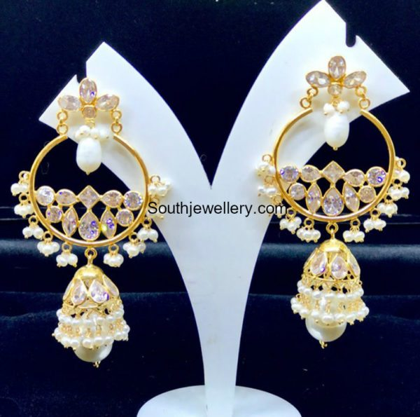 Chandbali With Jhumki Earrings