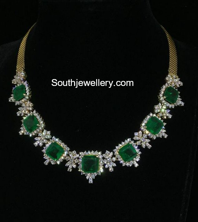India Star Emerald: Diamond Emerald Necklace