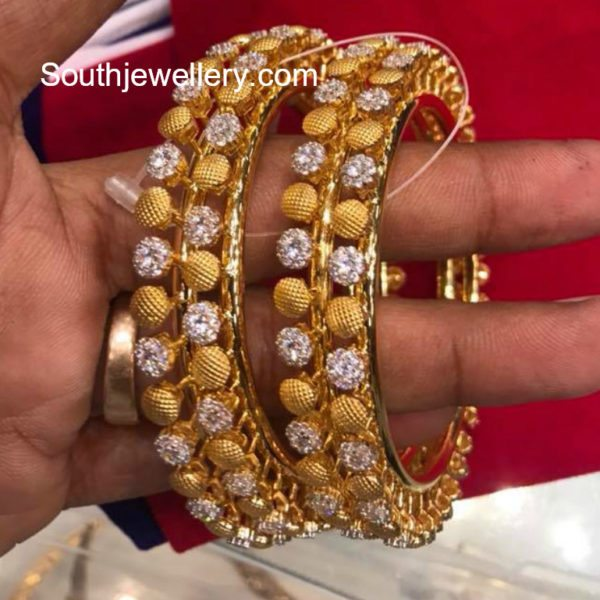 22 carat gold bangles models jewellery designs