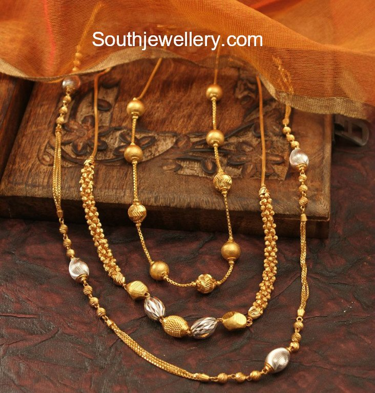Gold Long Chain Latest Jewelry Designs Jewellery Designs