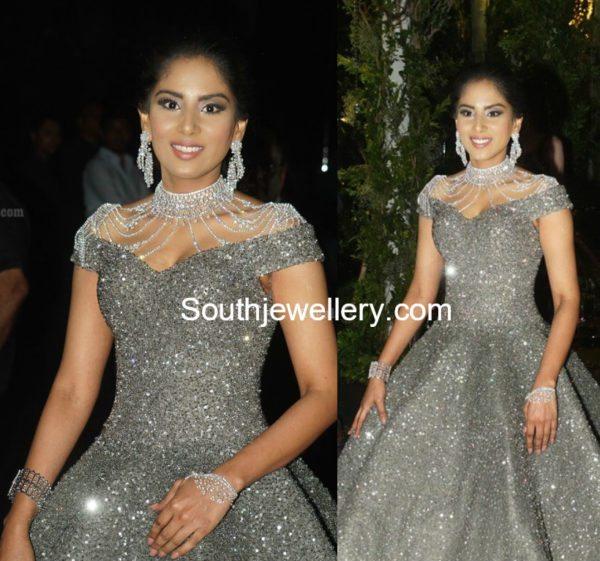 Harini Boinipally in Diamond Jewellery