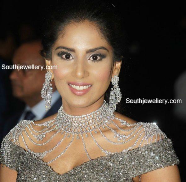harini boinipally diamond jewellery at hasini boinipally sangeet