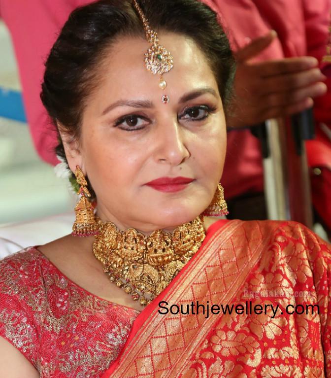 Jaya Prada In Temple Jewellery Indian Jewellery Designs
