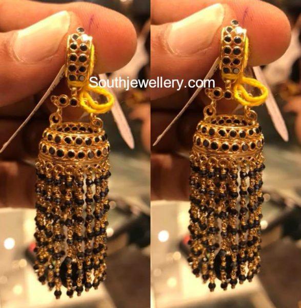 22 Grams Black Beads Jhumkis