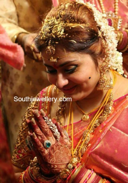 actress namitha wedding jewellery