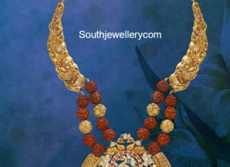 nakshi haram with rudraksh beads
