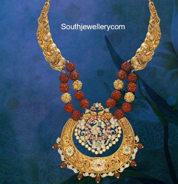 nakshi haram with rudraksh beads