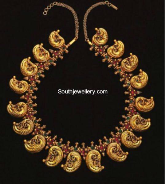 peacock nakshi necklace