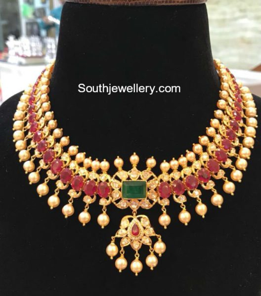 Ruby and South Sea Pearl Necklace
