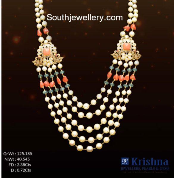 south sea pearl coral beads mala