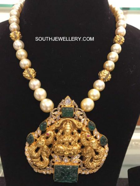 South Sea Pearl Mala with Lakshmi Pendant