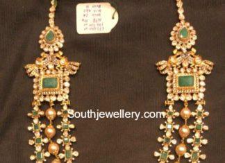 emerald uncut diamond mala