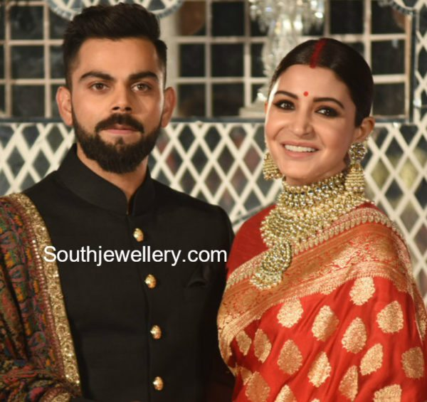 anushka sharma reception jewellery