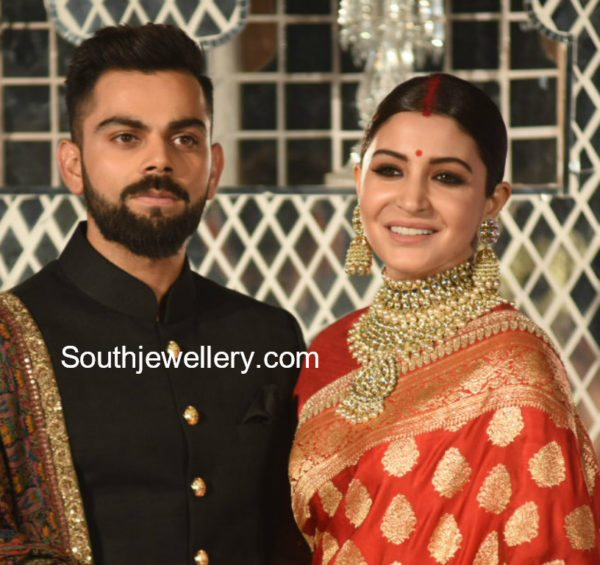 ANUSHKA SHARMA WEDDING RECEPTION JEWELLERY