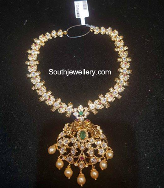 cz stones necklace