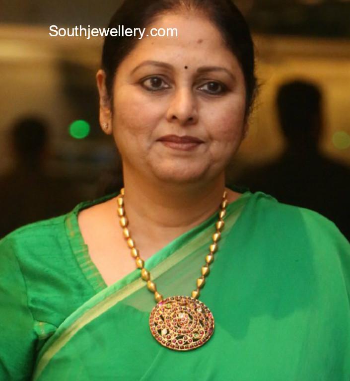 jayasudha in a dholki mala jewellery designs
