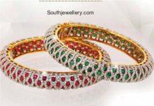 diamonbd ruby emerald bangles