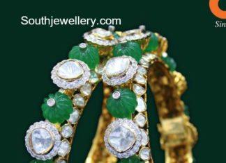 emerald polki bangles