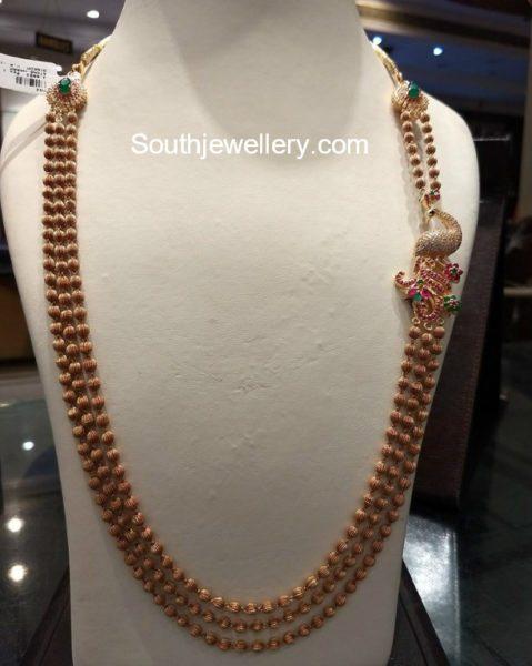 Gundla Mala with Peacock Side Pendant