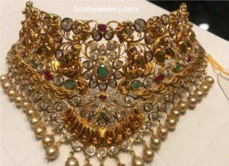 gold stones choker