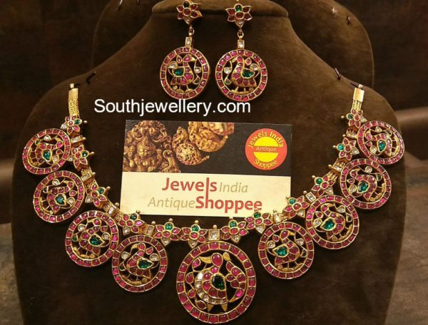 Peacock Kundan Necklace Set