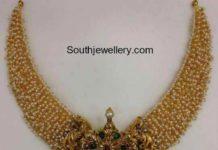 pearls haram lakshmi pendant