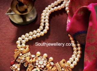 south sea pearls mala with polki pendant