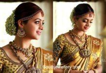 actress bhavana wedding jewellery