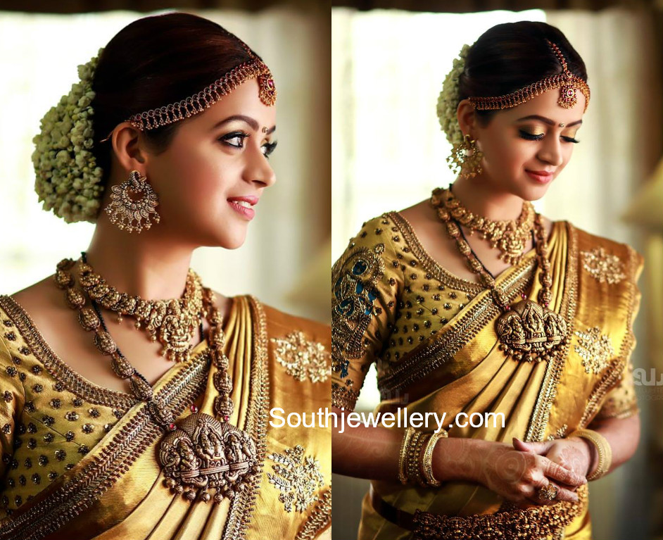 Actress Bhavana S Wedding Jewellery Jewellery Designs
