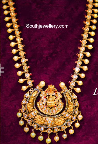 Gold Haram with Lakshmi Pendant