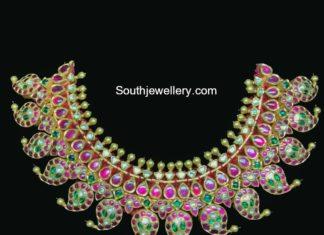 kundan mango necklace