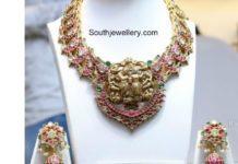 peacock mango necklace