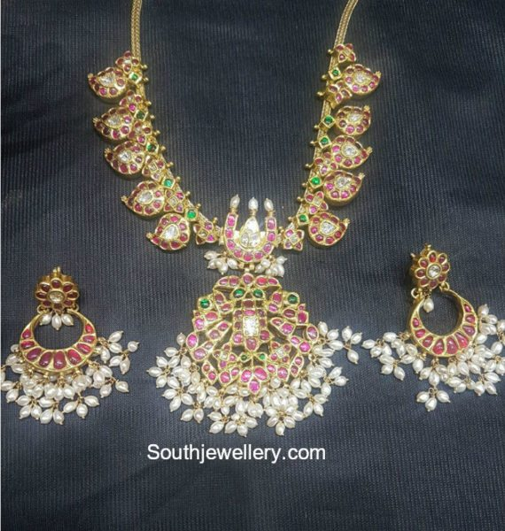 Mango Necklace and Chandbalis