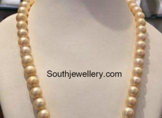 south sea pearls mala with chandbalis pendant