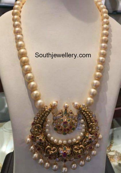 South Sea pearl Mala with Chandbali Pendant