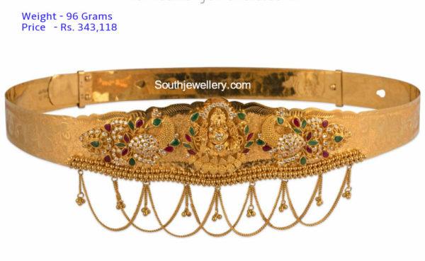 plain gold vaddanam models