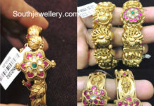 latest gold bangle models