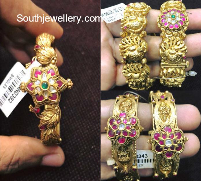 latest gold bangle models