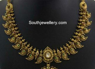 antique gold mango necklace