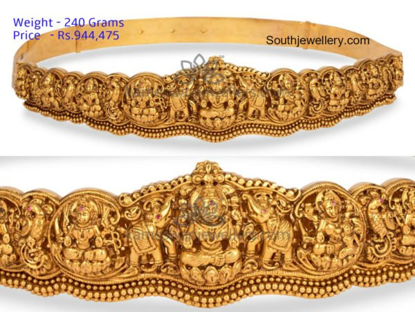 temple jewellery vaddanam designs