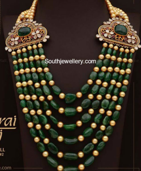 Emerald South Sea Pearls Mala