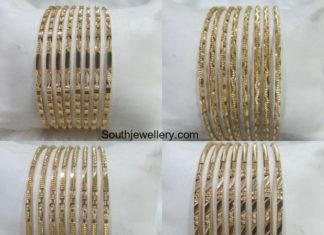 thin gold bangle designs