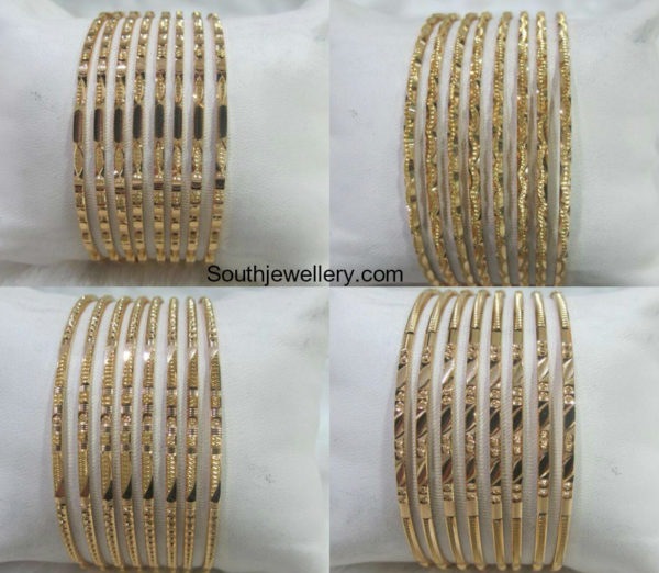 Thin Gold Bangle Designs