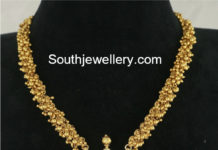 gold gajjalu muvvalu necklace