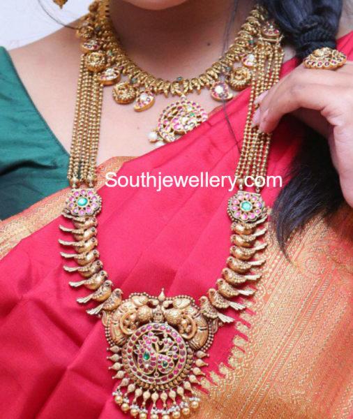 gold nekclace designs by manepally
