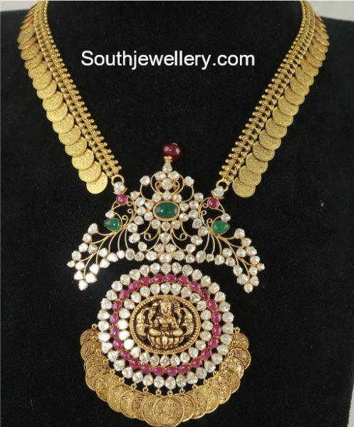 Kasu Haram With Lakshmi Pendant