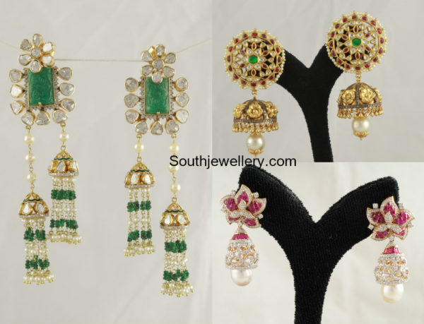 Latest Gold Earrings by Tibarumal Ramnivas Jewellers